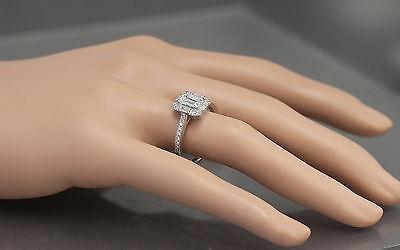 GIA G-VS2 14k White Gold Emerald Cut Diamond Engagement Ring Deco Halo 1.60ctw 4