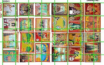 NH041 DAVE'S DECALS 1/2 Set N SCALE ASSORTED CIRCUS FREAKSHOW SIDE SHOW BANNERS