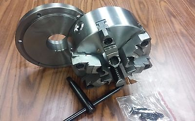 "8"" 6-JAW SELF-CENTERING  LATHE CHUCK w. top&bottom jaws, w."