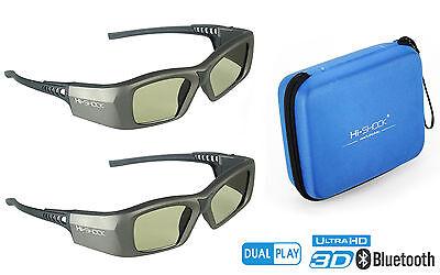 "2x 3D Brille ""Oxid Diamond"" für aktive 3D Full HD / HDR / 4K TV | Bluetooth / RF"