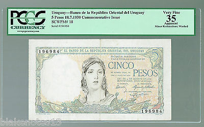 Click now to see the BUY IT NOW Price! URUGUAY P 18 1930 5 PESOS VF 35 REPUBLICA ORIENTAL