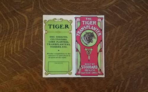Vintage 1900s Stoddard Dayton Tiger Transplanter Farm Implement Brochure Catalog