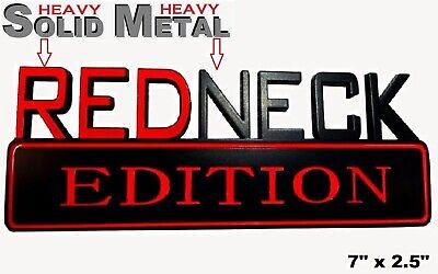 SOLID METAL Redneck Edition BEAUTIFUL EMBLEM Dodge Sign Fenders Bumper Door