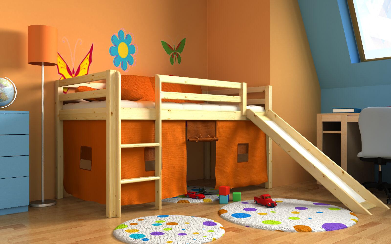 Letto per bambini con scivolo cameratta bambino letto letto a castello materasso eur 209 00 - Letto a castello con scivolo ...
