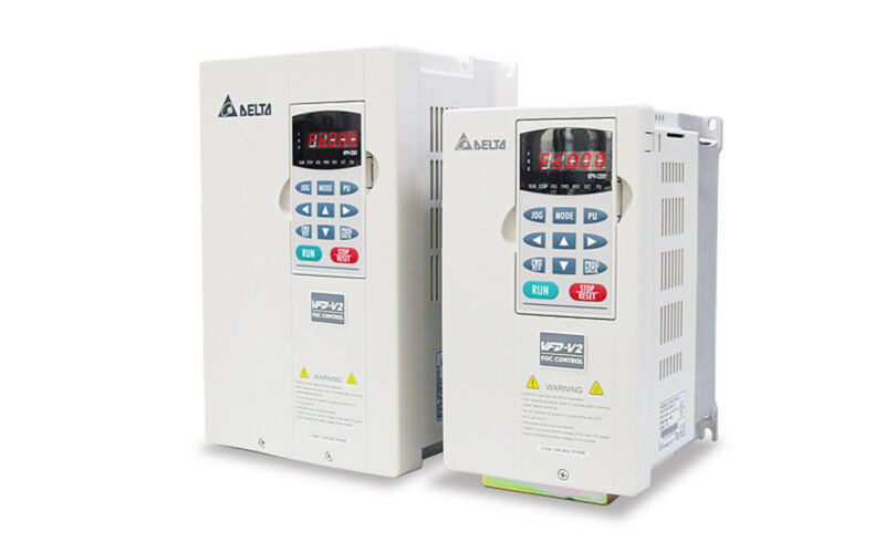 Delta Vfd-022v23a-2 Frequency Inverter Drive 3ph 3hp 220v