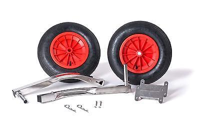 Edelstahl Slipräder XXL klappbar bis 160 kg für Schlauchboot Heckräder Sliphilfe