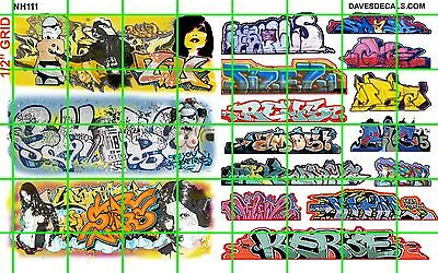 NH111 DAVE'S DECALS - ADULT THEMED 5TAR WAR GRAFFITI BOXCAR WALL URBAN N SCALE 2