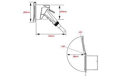 Mischbatterie Einbau Boot Wohnmobil Dusche Borddusche Heckdusche Bootsdusche