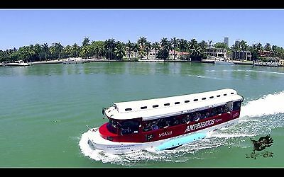 Amphibious Boat and City Duck Tour Business Opportunity with real assets
