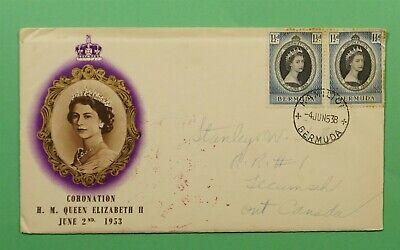 DR WHO 1953 BERMUDA FDC CORONATION QUEEN ELIZABETH II  C241604