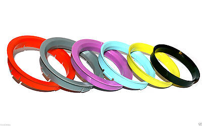 60.1 - 57.1 Spigot Rings, Set of 4 Spigot Ring for VW AUDI SEAT SKODA