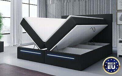 Boxspringbett Hotelbett SEJOUR inkl.Topper mit LED und Stauraum