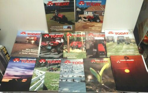 12 MASSEY FERGUSON TODAY TRACTOR & EQUIPMENT FARM BROCHURES BROCHURE LOT