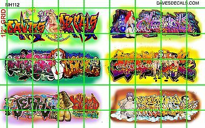 NH112 DAVE'S DECALS - ADULT THEMED SEXY GRAFFITI BOXCAR WALL URBAN N SCALE SET 3