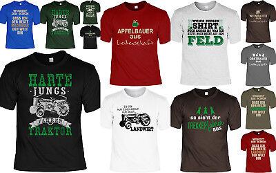 Bauer / Landwirt Sprüche T-Shirt - Traktor - Apfelbauer - Milchbauer - Erntezeit