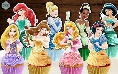 Set of 24 DISNEY PRINCESS Cupcake Toppers, Cupcake Picks, Cupcake Decorations](Disney Cupcake Picks)