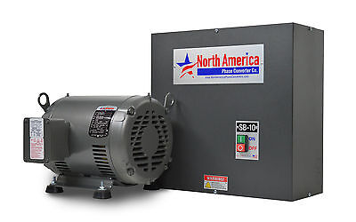Sb-10 Smart-boost 10hp Digital Rotary Phase Converter Custom Baldor Generator
