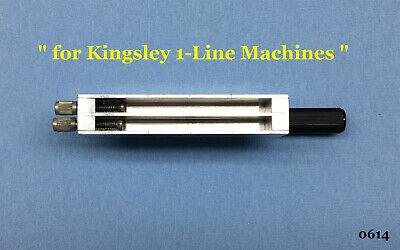 Kingsley Machine - 3-inch 2-line 18pt. Type Holder - Hot Foil Stamping Machine