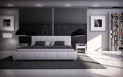 Luna Doppelbett 140x200 Bett  Kunstleder Polsterbett Designerbett Futonbett