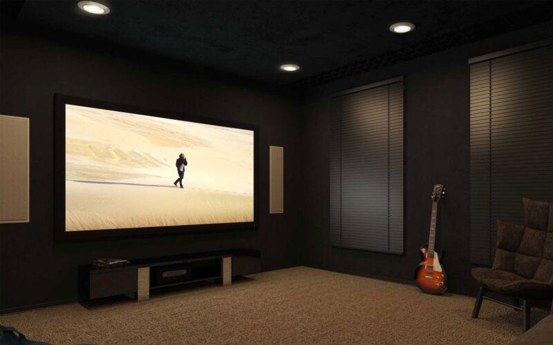 """100"""" Black Diamond Projector Screen Innovations (SI) W/ Velvet Border Frame"""