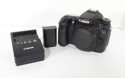 Canon EOS 70D 20.2MP Body Xlnt Cond- LOW SHUTTER COUNT- 15,985•FAST SHIP