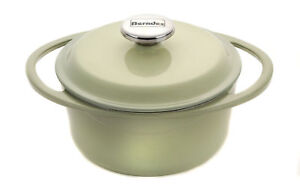 Berndes 1504101 Round Cast Iron, Casserole Dish with Lid, 20cm, 2.4 Litre, Green