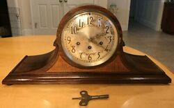 ANTIQUE SETH THOMAS WESTMINSTER CHIMES CAMEL BACK MANTLE CLOCK