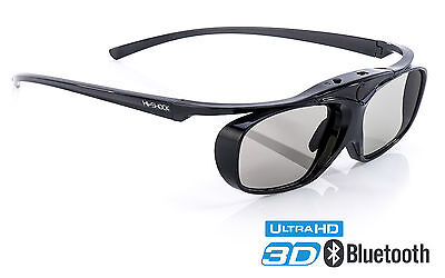 TDG-BT500A kompatible 3D Brille Black Heaven für Bluetooth FULL HD / HDR TV Sony