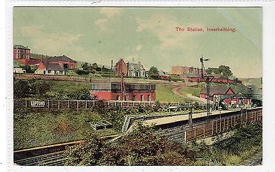 THE STATION, INVERKEITHING: Fife postcard (C18445)