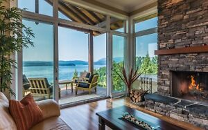 Oceanfront Luxury Home Quadra Island (from April) Furnished