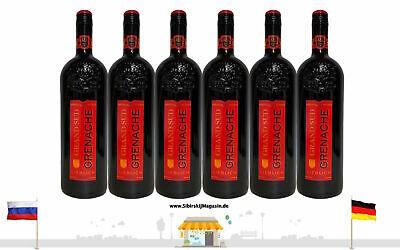 "GRAND SUD ""GRENACHE"" Lieblich Rotwein Jahrgang 2020 6 x 1L alc. 13% vol."