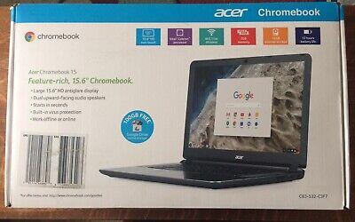 "Acer Chromebook 15.6"" Celeron N3060 2GB RAM 16GB eMMC | CB3-532-C3F7 | Gray"