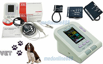 Vet Veterinary Digital Blood Pressure Monitor Pr Spo2 Probe For Pets Sw 3 Cuffs