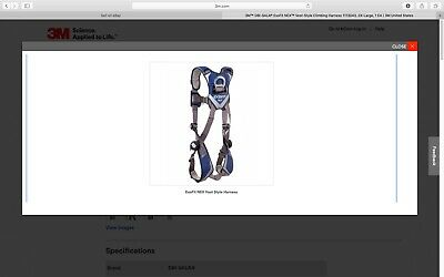 3m Dbi-sala Exofit Nex Construction Style Positioning Harness - 1113037 L New