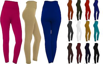 Women's Fleece Lined Solid Colors Winter Thick Warm High Waist Stretchy Leggings Clothing, Shoes & Accessories