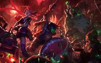 Poster A3 League Of Legends Pantheon Jinx Nunu Zombie Lol -  - ebay.es