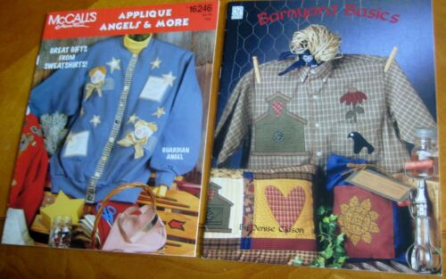 2 quilting booklets  Country shirt applique Quilt pillow patterns projects Lot K