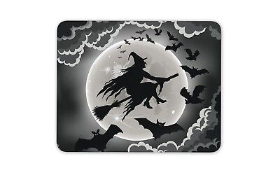 Halloween Games On Computer (Halloween Witch On The Broom Mouse Mat Pad - Seasonal Scary Gift Computer)