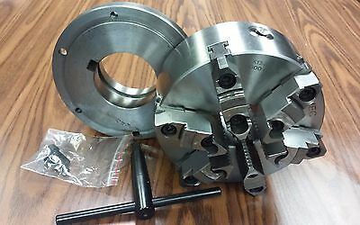 8 6-jaw Self-centering Lathe Chuck W. Topbottom Jaws L1 Adapter Back Plate