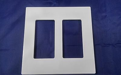 (Leviton 80309-SW 1 Pack or Multic Pack 2-Gang  Wallplate Screwless Snap-On Mount)