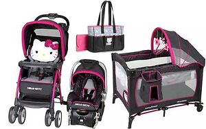 Baby Trend Hello Kitty Stroller Car Seat Diaper Bag ...