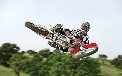 "MOTOCROSS DIRT BIKE JUMP SPORT PHOTO ART PRINT POSTER 21""x13"" 056"