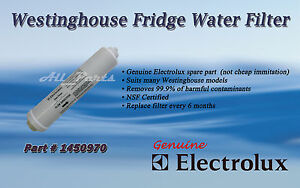 ELECTROLUX WESTINGHOUSE GENUINE WATER FILTER FRIDGE PART 1450970 WSE6070 ESE6077