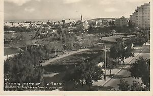 5296-Jerusalem-Gerusalemme-King-George-Street-w-partial-view-1951-small
