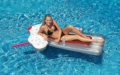 Swimline® 90652 Root Beer Mug Swimming Pool Inflatable Float Toy Raft - Inflatable Beer Mug