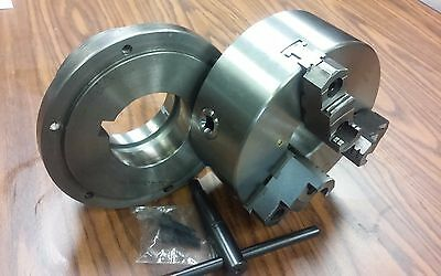8 3-jaw Self-centering Lathe Chuck Top Bottom Jaws W. L1 Adapter Back Plate
