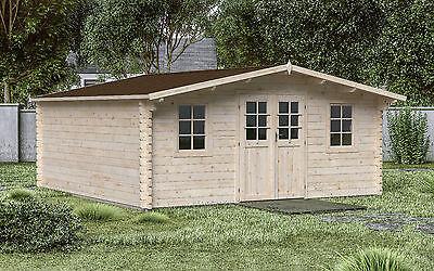 44 mm Gartenhaus 500x500 cm Gerätehaus Blockhaus Holzhaus Datsche Lounge Holz
