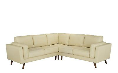 Mid Century Modern Real Leather Sectional Sofa for Living Ro