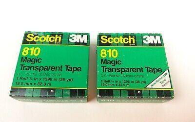 Scotch 3m 810 Magic Transparent Tape Two Boxes New. 47