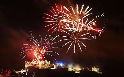 Fireworks go off over Edinburgh Castle as part of the 2013 Edinburgh Hogmanay. Danny Lawson/PA Wire
